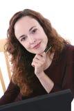 Jolie femme d'affaires Photo stock