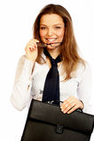 Jolie femme d'affaires. images stock