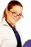 Jolie femme d'affaires. Image libre de droits