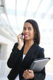 Jolie femme d'affaires d'Afro-américain Photos libres de droits