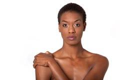 Jolie femme d'Afro-américain photo stock