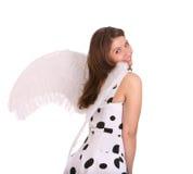 Jolie femme dans le costume de l'ange. Photo libre de droits