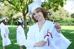 Jolie femme de graduation Images libres de droits
