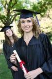 Jolie femme de graduation Image libre de droits