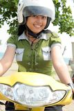 jolie femme de vélo Photo stock