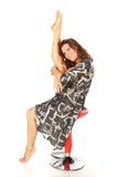 jolie femme flexible de stretchig Image stock
