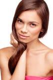 Jolie fille avec le beau cheveu Photographie stock