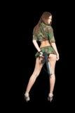 Jolie fille avec le fusil Images libres de droits