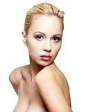 Jolie fille avec une peau propre Images libres de droits