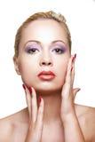 Jolie fille avec une peau propre Photos libres de droits