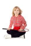Jolie fille avec une raquette de tennis Photo libre de droits