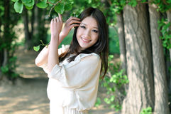 Jolie fille chinoise Photographie stock