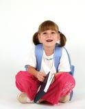 Jolie fille d'école avec le cahier Images libres de droits