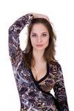 Jolie fille dans le studio Photographie stock libre de droits