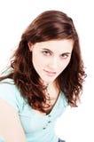Jolie fille de brunette Images stock