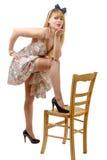 Jolie fille de pin-up envoyant des baisers Photographie stock