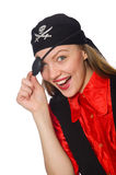 Jolie fille de pirate images stock