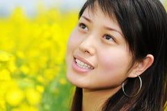 jolie fille de plan rapproché Photo libre de droits