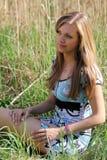 Jolie fille de source Photographie stock libre de droits