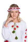 Jolie fille ukrainienne de la préadolescence Photographie stock