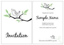 Jolie invitation Photographie stock