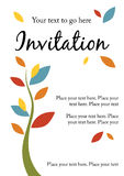 Jolie invitation de réception Photo libre de droits