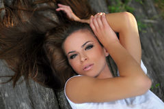 Jolie jeune femme Images stock