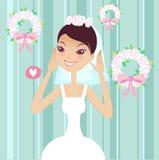 Jolie mariée illustration libre de droits