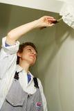 Jolie peinture de femme Photo libre de droits