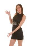 Jolie présentation de brunette Photos stock