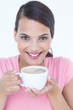 Jolie tasse de boissons de brune de café Image libre de droits