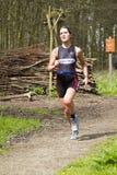 Jolien Janssen running the course Stock Photo