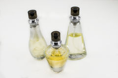 Jolies bouteilles de parfum Photos stock