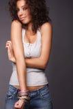 Jolies femmes riantes Photographie stock