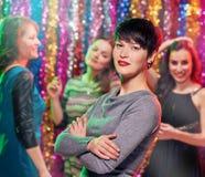 Jolies filles dans la boîte de nuit Image libre de droits