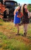 Jolies filles de pays de danse Photo stock
