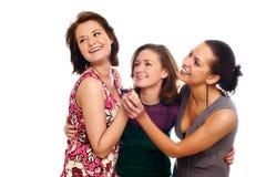 Jolies filles riantes heureuses Image stock