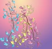 Jolies fleurs abstraites. illustration libre de droits