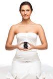 Jolies pierres de fixation de femme pour la station thermale Photographie stock libre de droits
