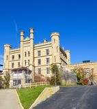 Joliet Correctional Center. This is a picture of the Illinois State Penitentiary in Joliet, Illinois.  This prison was built in 1858 and would operate until 2002 Stock Images