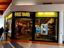 Pac Sun Mall Store. Joliet, Illinois, USA - April 8, 2018: Pac Sun location in the Louis Joliet Mall in the Chicago suburbs Stock Photography