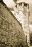 Joliet Prison Wall & Watchtower Stock Photography