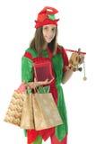 Jolis cadeaux de transport de l'adolescence d'Elf images stock