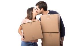 Jolis couples se déplaçant dedans ensemble Photos libres de droits