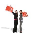 Jolis femmes dans les achats Photo libre de droits