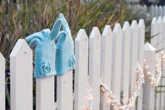 Jolis gants de cachemire pour l'hiver Photographie stock libre de droits