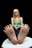 Jolis, modifiés pieds Photos stock