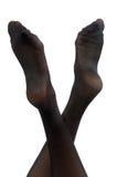 Jolis pieds femelles Image libre de droits