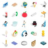 Jollity icons set, isometric style Stock Images