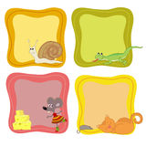 Jolly animals Stock Images
